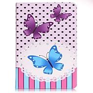 Для Кошелек / Бумажник для карт / со стендом / С узором Кейс для Чехол Кейс для Бабочка Твердый Искусственная кожа SamsungTab E 9.6 / Tab