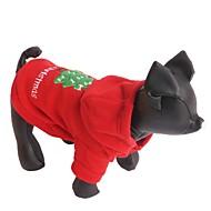 Kat Hond Hoodies Hondenkleding Fleece Winter Kerstmis Nieuwjaar Effen Rood Voor huisdieren