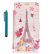 Кейс для Назначение SSamsung Galaxy S7 edge S7 Бумажник для карт Кошелек со стендом Чехол Эйфелева башня Твердый Искусственная кожа для