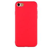 Недорогие Кейсы для iPhone 8 Plus-Кейс для Назначение Apple iPhone X iPhone 8 iPhone 6 iPhone 7 Plus iPhone 7 Ультратонкий Матовое Кейс на заднюю панель Сплошной цвет