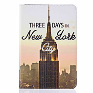 Для Бумажник для карт / со стендом / Флип / С узором Кейс для Чехол Кейс для Панорама города Твердый Искусственная кожа AppleiPad Mini 4