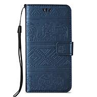 tanie Etui na telefony-Kılıf Na Samsung Galaxy A5(2016) A3(2016) Etui na karty Portfel Z podpórką Flip Wytłaczany wzór Pełne etui Słoń Twarde Skóra PU na