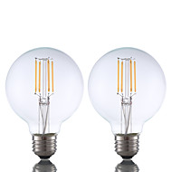 お買い得  -GMY® 2pcs 3.5 W 350 lm フィラメントタイプLED電球 G80 4 LEDビーズ COB 調光可能 温白色 110-130 V / 2個