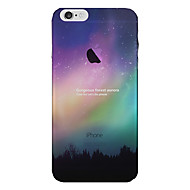 Недорогие Кейсы для iPhone 8 Plus-Кейс для Назначение Apple iPhone 8 iPhone 8 Plus Кейс для iPhone 5 iPhone 6 iPhone 7 Полупрозрачный Кейс на заднюю панель Цвет неба Пейзаж