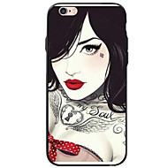abordables Carcasas-Funda Para iPhone 7 / iPhone 7 Plus / iPhone 6s Plus iPhone 7 / iPhone 6 / Funda iPhone 5 Diseños Funda Trasera Chica Sexy Suave Acrílico para iPhone SE / 5s