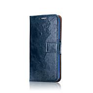 お買い得  Samsung 用 ケース/カバー-ケース 用途 Samsung Galaxy S8 Plus S8 カードホルダー ウォレット フルボディーケース 純色 ソフト 本革 のために S8 Plus S8 S7 edge S7 S6 edge S6