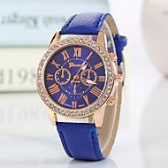 cheap Watch Deals-Geneva Women's Quartz Wrist Watch Imitation Diamond PU Band Charm / Sparkle / Casual / Fashion Black / White / Red / Pink