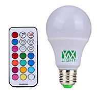 Χαμηλού Κόστους LED Λάμπες Σφαίρα-E26/E27 LED Λάμπες Σφαίρα 12 SMD 600-800 lm Φυσικό Λευκό RGB κ Με ροοστάτη Τηλεχειριζόμενο Διακοσμητικό V