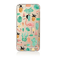 cheap Apple Accessories-Case For Apple iPhone X iPhone 8 Plus iPhone 5 Case iPhone 6 iPhone 7 Translucent Pattern Back Cover Flamingo Soft TPU for iPhone X