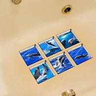 애니멀 벽 스티커 플레인 월스티커 화장실 스티커,비닐 자료 홈 장식 벽 데칼