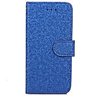 Недорогие Кейсы для iPhone-Для Бумажник для карт / Кошелек / со стендом / Флип Кейс для Чехол Кейс для Один цвет Твердый Искусственная кожа для AppleiPhone 7 Plus /