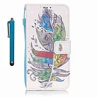 Недорогие Чехлы и кейсы для Galaxy A3(2016)-Кейс для Назначение SSamsung Galaxy A5(2016) A3(2016) Бумажник для карт Кошелек со стендом Чехол  Перья Твердый Кожа PU для A5(2016)