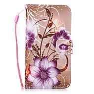 お買い得  Samsung 用 ケース/カバー-ケース 用途 Samsung Galaxy S8 Plus S8 カードホルダー ウォレット スタンド付き バックカバー フラワー ハード PUレザー のために S8 Plus S8 S7 edge S7 S6 edge S6 S5 Mini S5 S4 Mini S4
