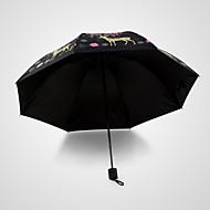 Sininen Taitettava sateenvarjo Auringonvarjo Plastic Rattaat