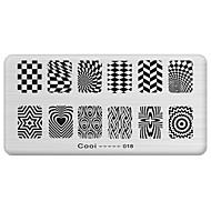 köröm bélyeg bélyegzés kép sablon lemez hűvös sorozat