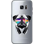Voor Ultradun / Transparant / Patroon hoesje Achterkantje hoesje Hond Zacht TPU voor Samsung S7 edge / S7 / S6 edge plus / S6 edge / S6