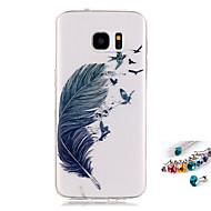 tok Για Samsung Galaxy S7 edge S7 IMD Διαφανής Με σχέδια Πίσω Κάλυμμα Φτερά Μαλακή TPU για S7 edge S7 S6 edge S6 S5 Mini S5