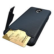 お買い得  携帯電話ケース-ケース 用途 OnePlus / ワンプラス3 カードホルダー / スタンド付き バックカバー ソリッド ハード PC のために One Plus 3T / One Plus 3 / OnePlus