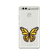 Для С узором Кейс для Задняя крышка Кейс для Бабочка Мягкий TPU для HuaweiHuawei P9 / Huawei P9 Lite / Huawei P9 Plus / Huawei P8 /