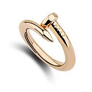 זול -בגדי ריקוד גברים לזוג יהלום סינתטי טבעות לזוג מותאם אישית Fashion Ring תכשיטים כסף / מוזהב עבור חתונה Party יומי קזו'אל מידה אחת One Size