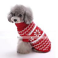 Kutya Pulóverek Kutyaruházat Divat Karácsony Hópehely Sötétkék Piros Jelmez Háziállatok számára