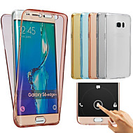 billige Galaxy Core 2-For Samsung Galaxy etui Transparent Etui Heldækkende Etui Helfarve Blødt TPU for SamsungJ7 (2016) J7 J5 (2016) J5 J3 J2 J1 Grand Prime E7
