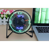 Nieuwigheid Clock Fan with Floating LED Timeand  Temperature  Display 130cm 145*168*115 Zwart
