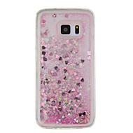 For Samsung Galaxy  S7 edge S7 S6 edge S6  S5 Case Little Love Quicksand Small Fresh Sand TPU Material Phone Case