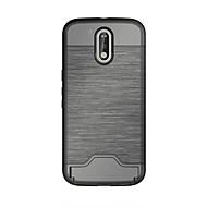 olcso Mobiltelefon tokok-Mert Kártyatartó / Állvánnyal Case Hátlap Case Egyszínű Kemény TPU mert Motorola MOTO G4 / Moto G4 Plus / One Plus 3