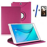 Недорогие Чехлы и кейсы для Galaxy Tab A 9.7-Кейс для Назначение SSamsung Galaxy / Вкладка 9,7 со стендом / Флип / Поворот на 360° Чехол Однотонный Твердый Кожа PU для