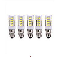 お買い得  LED コーン型電球-5個 5W 2700-3000/6000-6500lm E14 LEDコーン型電球 T 51 LEDビーズ SMD 2835 温白色 クールホワイト 220V