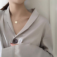 Недорогие $0.99 Модное ювелирное украшение-Жен. Ожерелья с подвесками - Уникальный дизайн, В виде подвески, Классический Серебряный, Золотой Ожерелье Назначение Повседневные