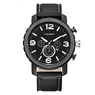 CAGARNY 남성 패션 시계 손목 시계 / 석영 가죽 밴드 빈티지 멋진 캐쥬얼 블랙 브라운