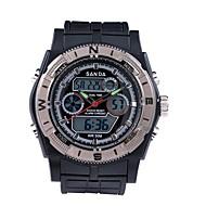preiswerte -SANDA Herrn Sportuhr Militäruhr Smart Watch Modeuhr Armbanduhr digital Japanischer Quartz Chronograph Wasserdicht LED Duale Zeitzonen