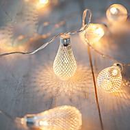 halpa LED-hehkulamput-2m aa akun toiminta johtanut merkkijono johti metallia tippua merkkijono valot valot navidad luci nataleguirlande exterieur