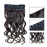 お買い得  -Febay Clip In 人間の髪の拡張機能 ウェーブ ヘアピース 合成
