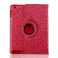 billige -Etui Til iPad 4/3/2 med stativ Origami Heldekkende etui Tegneserie PU Leather til iPad 4/3/2
