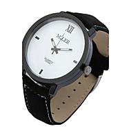 billige -Herre Armbåndsur Quartz Læder Bånd Sort Hvid