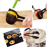 Hand-held citroen ui tomaat fruit snijmachine chopper snijder voedsel clips keuken gereedschap