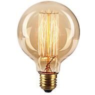 رخيصةأون -Ecolight™ 1PC 40W E27 E26/E27 G80 أبيض دافئ 2300 ك المتوهجة خمر اديسون ضوء لمبة أس 220-240V V