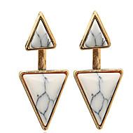 billige -Dame Stangøreringe luksus smykker Personaliseret Europæisk Turkis Legering Geometrisk form Trekantet Smykker Til Bryllup Halloween