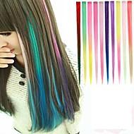 recta larga sintética y clip en extensiones de cabello con clips 1 10 colores disponibles