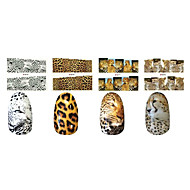 cheap Nail Art-1x10PCS Animal Skin Leopard Sery Full-Cover Nail Stickers(Assorted Patterns)