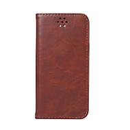 Недорогие Чехлы и кейсы для Galaxy A7(2016)-Кейс для Назначение SSamsung Galaxy A5(2016) A3(2016) Бумажник для карт Кошелек со стендом Флип Чехол Сплошной цвет Твердый Кожа PU для