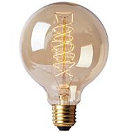 tanie Żarówki tradycyjne-Ecolight™ 1szt 40 W x 4 E27 E26/E27 G80 Ciepła biel 2300 K Żarówka Vintage Edison żarówka AC 220-240V V