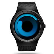 SINOBI Herr Armbandsur Unik Creative Watch Sportsklocka Quartz Vattenavvisande Stöttålig Rostfritt stål Band Lyx Ledigt Svart