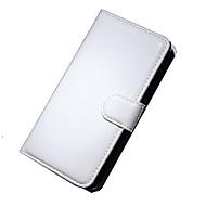 voordelige Telefoon hoesjes-Voor Nokia hoesje Portemonnee / Kaarthouder / met standaard hoesje Volledige behuizing hoesje Effen kleur Hard PU-leer NokiaNokia Lumia