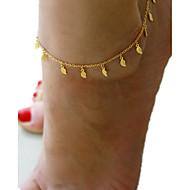 billiga -Dam Ankelkedja - Tofs, Europeisk, Minimalistisk Stil, Mode Smycken Brun Till Dagligen