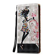 preiswerte Handyhüllen-Hülle Für Samsung Galaxy Kreditkartenfächer Geldbeutel Flipbare Hülle Ganzkörper-Gehäuse Sexy Lady Hart PU-Leder für Note 5 Note 4 Note 3