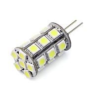 billige LED-lamper med G-sokkel-3W G4 LED-lamper med G-sokkel Tube 24 SMD 5050 270 lm Varm hvid / Kold hvid / Blå / Grøn / Rød Justérbar lysstyrke / Dekorativ DC 12 V1
